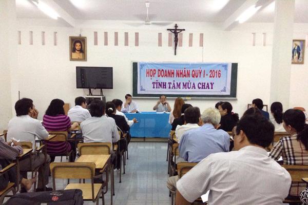 Doanh nhân Công giáo Mỹ Tho họp mặt quý I/ 2016 và tĩnh tâm mùa chay